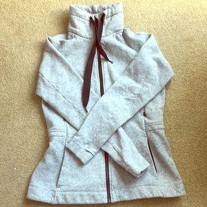 Lululemon gray zip up jacket/sweatshirt